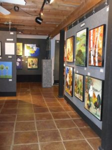 Inside the newartworks gallery in fair oaks california