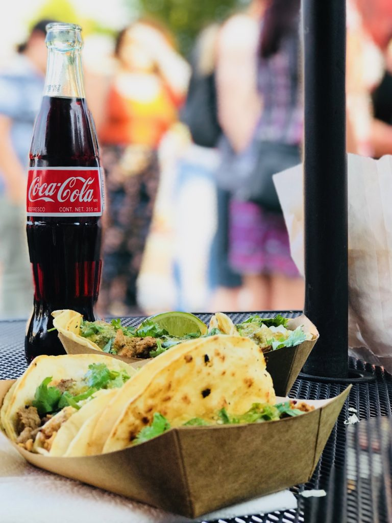 coca cola and street tacos