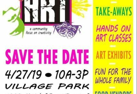 Kids Art flyer