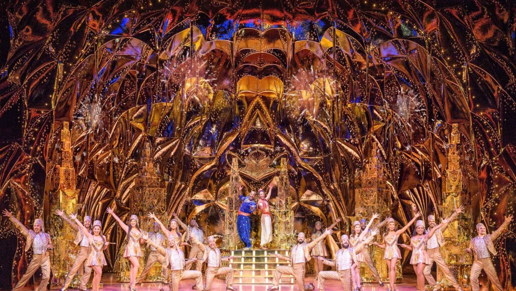Inside the cave of wonders in the Broadway Musical production of Aladdin
