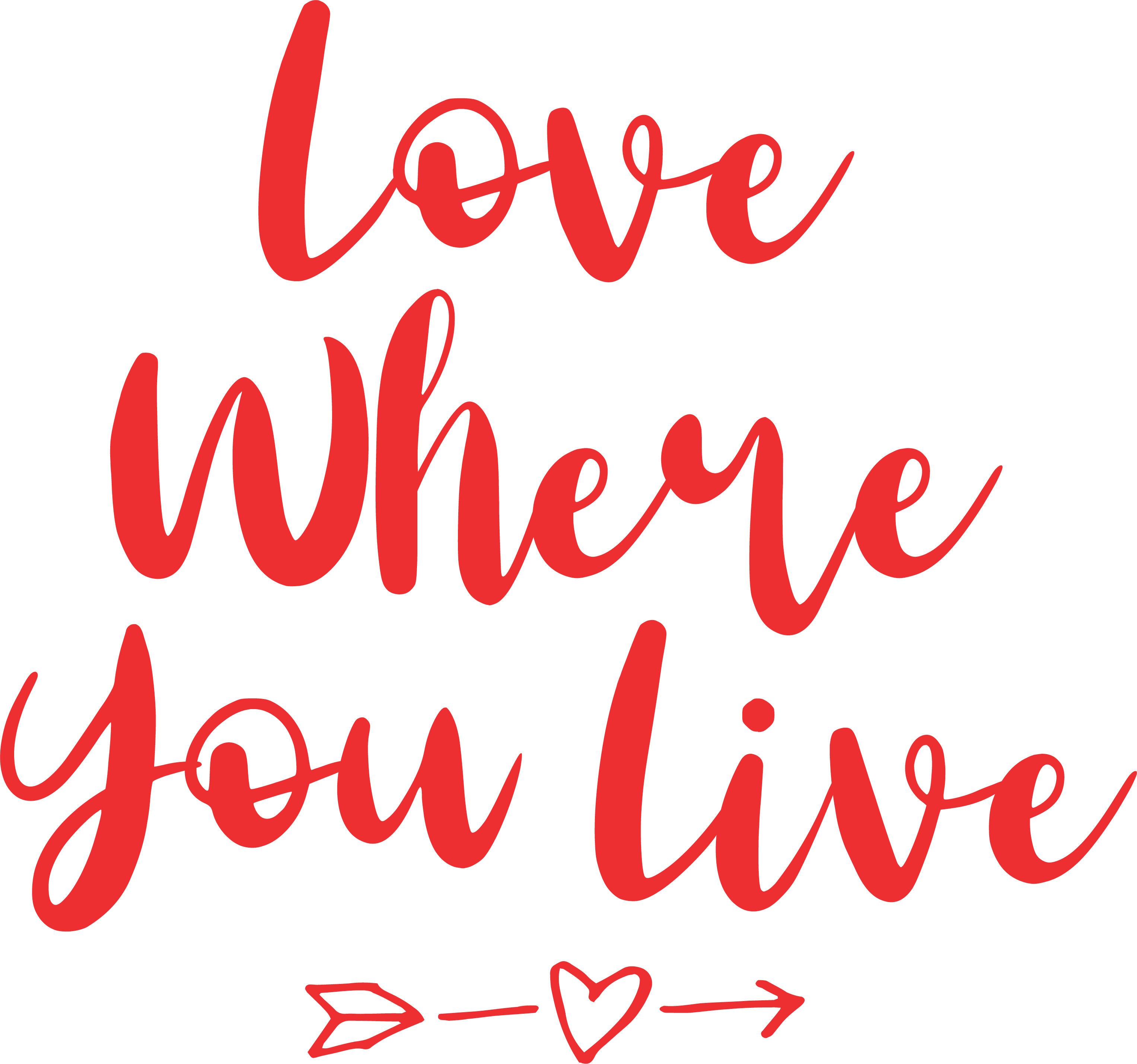 love where you live with love fair oaks red #ff2828